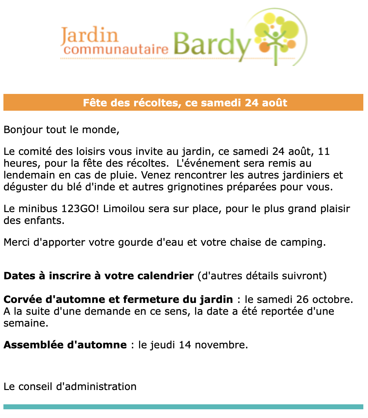 Info-lettre